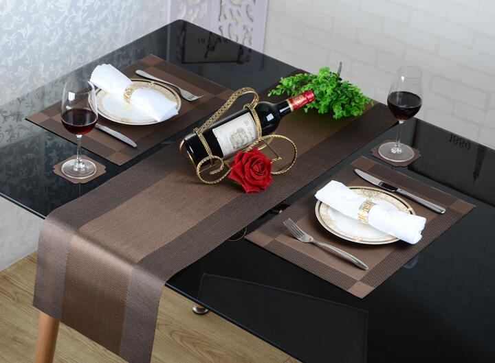 European PVC Table Runner Luxury Long Tablecloth Easy To Clean And Quick-drying Breathable Table Mat Coffee Table Flag
