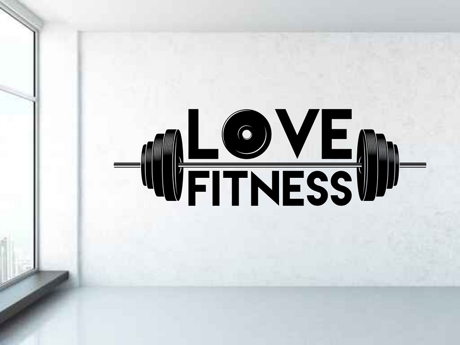 Weightlifter vinyl wall stickers sports fitness men's gym youth dormitory bedroom shool home decoration wall decal 2GY12-in Wall Stickers from Home & Garden