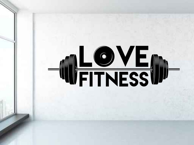 Weightlifter vinyl wall stickers sports fitness mens gym youth dormitory bedroom shool home decoration wall decal 2GY12