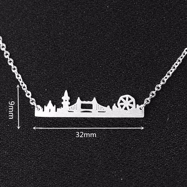 Naszyjnik minimalistyczny London Skyline 3 kolory