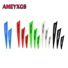 100pcs 2/3/4 Archery Rubber Feather Vanes Arrow Fletches DIY Tools Shield Shape Hunting Shooting Accessories