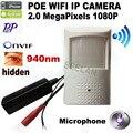 1080 P POE estilo PIR Detector de movimento WIFI Camera ONVIF 48 pcs 940nm IR Night Vision P2P Plug and Play Mini WIFI POE IP câmera mni