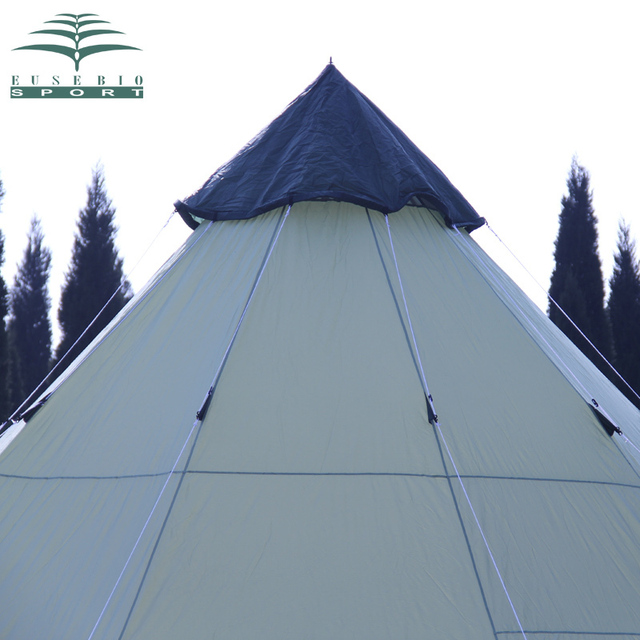 Luxury Large Indian singler layer 10persons outdoor camping tent with waterproof and anti-wind traveling tent in good quality