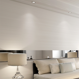 Image 4 - Einfarbig Striped Nicht woven Beflockung Tapete Für Wände Rollen 3D Schlafzimmer Wohnzimmer Klassische Wand Papier Wohnkultur moderne 10M