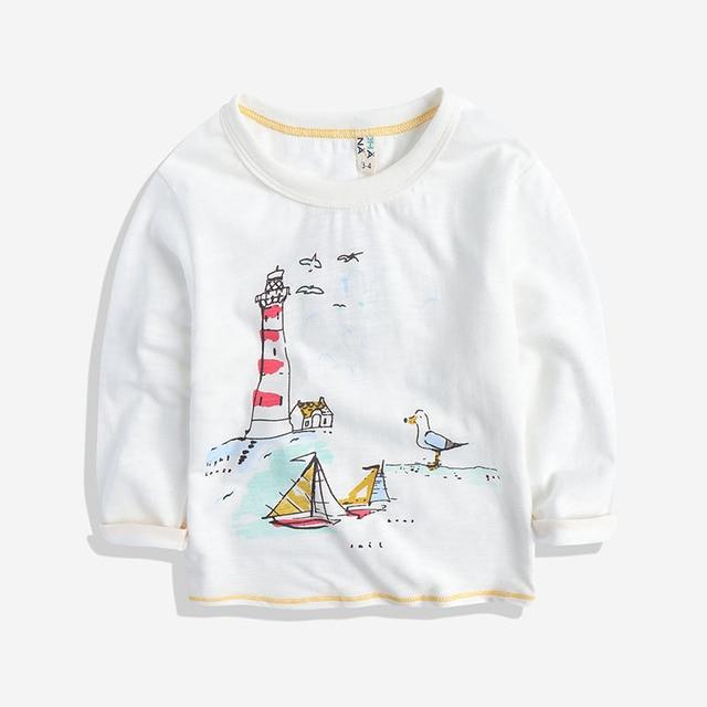 The boy's T-shirt long sleeve T-shirt children children cotton long sleeved 2017 new spring baby shirt