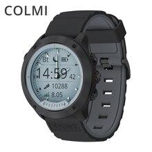 COLMI M5 IP68 Luminosa À Prova D' Água Heart Rate Monitor Relógio Inteligente Tela Transparente Moldura de Aço Inoxidável BORDA Smartwatch