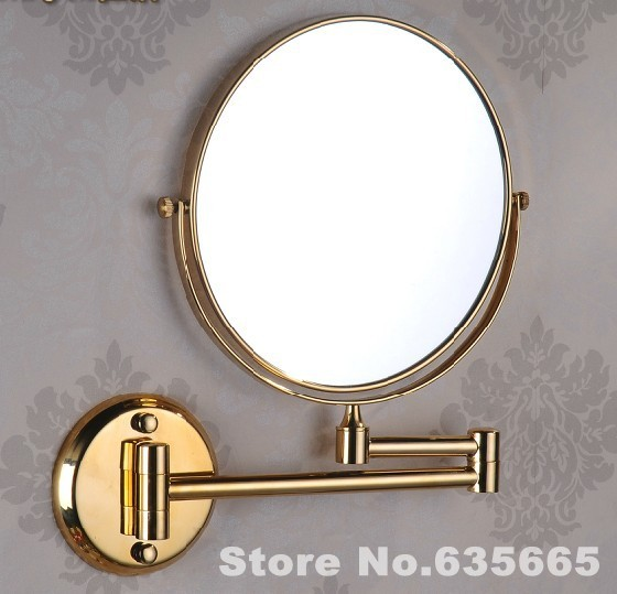 Antique Gold Double Side 8 Bath Mirror Shave Makeup Extend Arm 3x Magnifying Espelho Do Banheiro