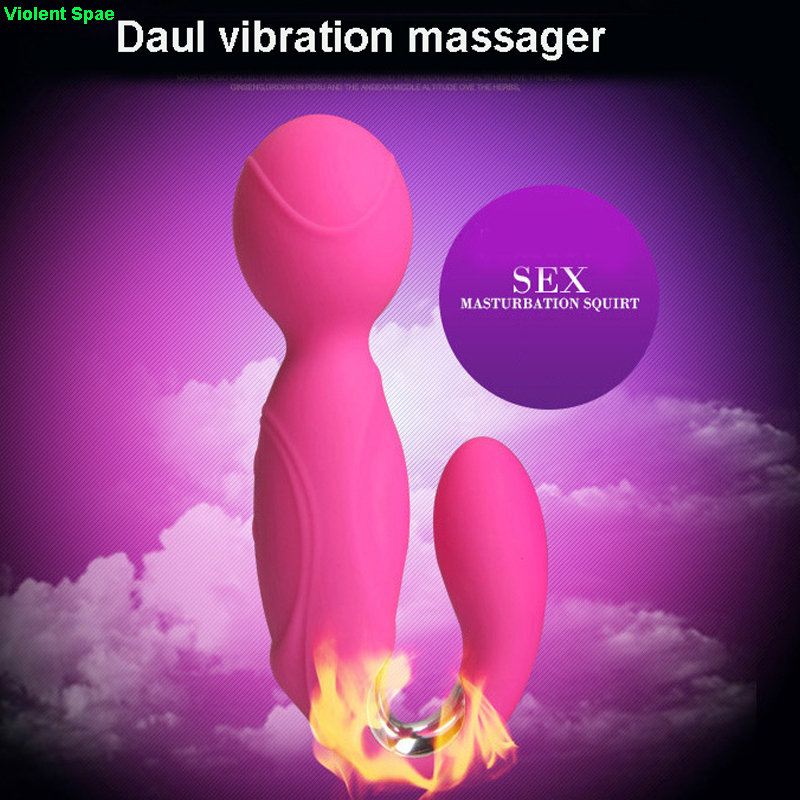 Violent Space Dual Vibration G spot Dildo Clit Vibrator AV Stick Sex toys for Woman sex Products Erotic toys Magic wand massager libo 8 speed g spot vibrators sex toys for women magic wand massager body massager vibromasseur vibradores femininos av stick