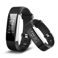 Casual Smart Wristband Luxury Fitness Tracker Alarm Clock ID115 Plus Business Sport USB Charging OLED Women