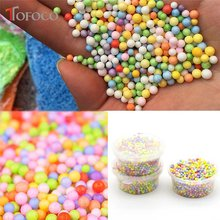 TOFOCO 50ml Colorful Soft Fluffy Snow Mud Slime Balls Small Tiny Foam Beads For Floam Filler Fruit Slice for Slime Carft(China)