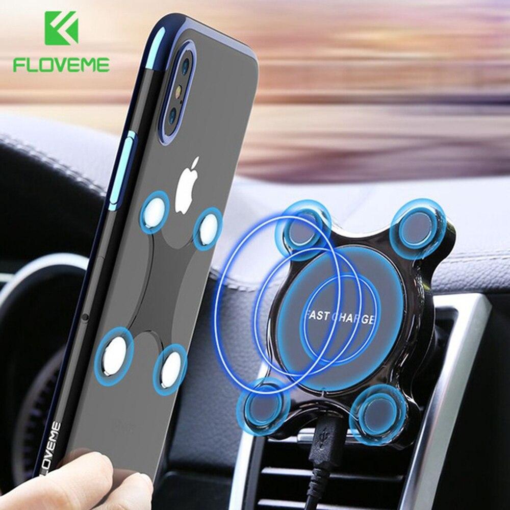 FLOVEME Auto Qi Caricatore Senza Fili Per iPhone X 8 Più Magnetico Supporto Del Telefono Per Auto Veloce Caricabatterie Per Il Samsung Nota 9 8 S9 S8 Più Del Basamento