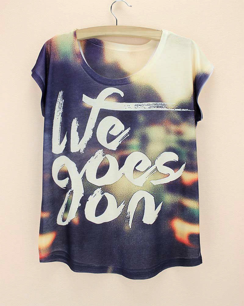 Design t shirt girl - New Come Western Fashion Design T Shirt Women New 2014 Summer Tee Girls Novelty Print T Shirt Plus Size Ladies Print Top Tees