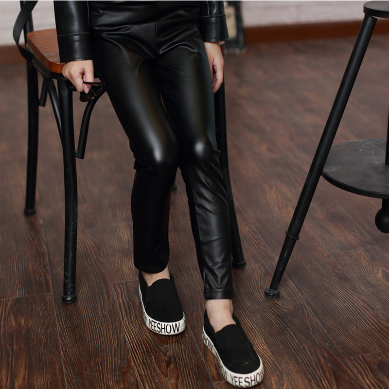 Children's Garment Girl Concise Leisure Time Hit Leather ...