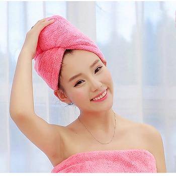 Toallas de baño de microfibra de pelo grueso bufanda toalla adultos suave piel fuerte absorción de agua tapa de pelo seco