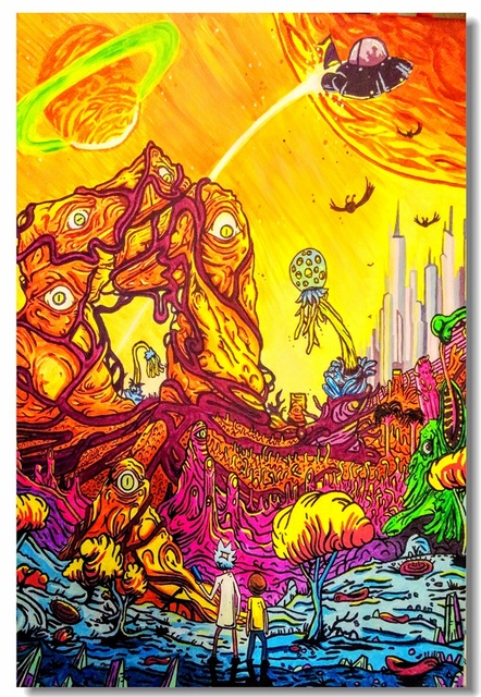 custom canvas wall murals rick and morty poster rick and morty wall