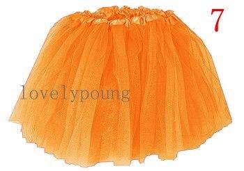 Дешевые юбка-пачка, юбка для девочки в акционной цене, девушки юбка - Цвет: orange