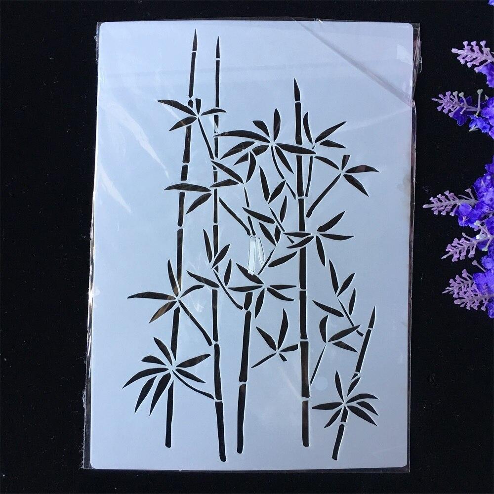 New Bamboo DIY Layering Stencils Painting Scrapbook Coloring Embossing Album Decorative Paper Card Template