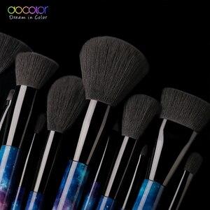 Image 3 - Docolor Spazzole 12pcs Spazzole di Trucco Professionale Bellezza Make Up Pennello Prodotti di base In Polvere Arrossisce Capelli Sintetici