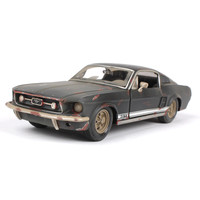 Hot classic 1:24 old Ford Mustang GT zinc alloy model car,collection and gift metal simulation retro model,free shipping