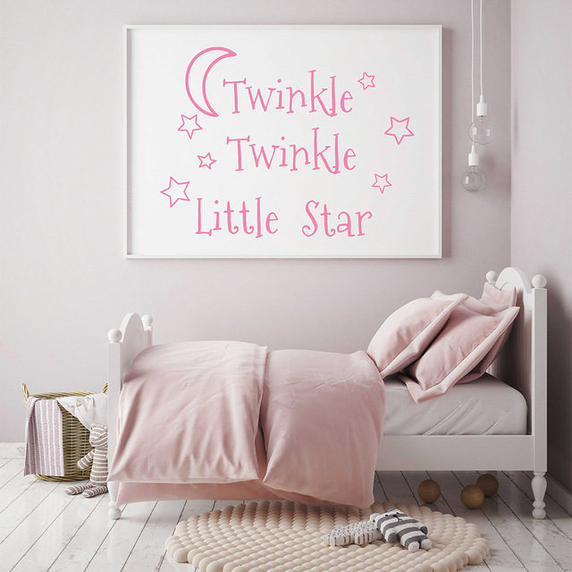 Twinkle Twinkle Little Star Decals Bintang Nursery Decor Kamar Bayi