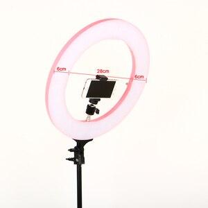 Image 3 - 写真撮影 16 インチリングライト 60 ワット 448 個 Led 無段階調整 3 色照明とフォトスタジオライトスタンド電話クランプ