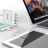 Tutuo 40w fast Quick Charge 3.0 5 Port USB Wall Charger Power Adapter type c usb charger for Samsung xiaomi huawei iPhones
