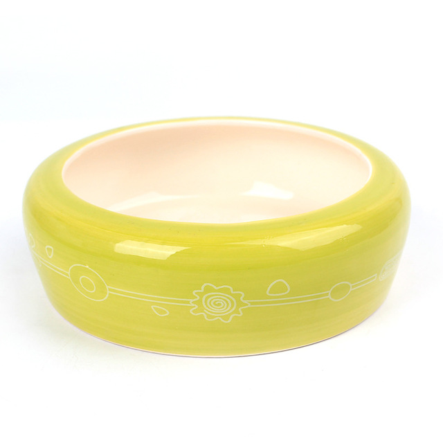 Dog Feeders bowl Water Dish Pet cat Puppy Large Dogs Circular ceramics Wear-resistant anti-skid Food Feeding basin Pet Products