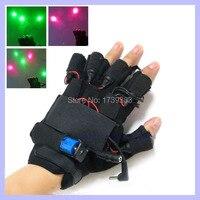 1 пара Рождество подарок 532nm 100 МВт фиолетовый синий лазерный Прихватки для мангала танцы этап Показать свет для DJ/партии Show led перчатки вечер