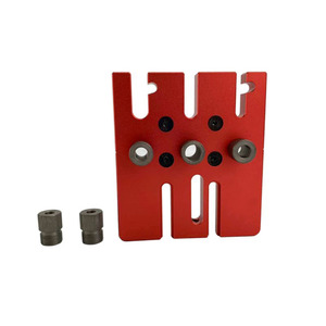 Image 3 - Woodworking Splicing board hole opener locator tenon hole Puncher with 6/8/10mm drill bushing woodworking tool