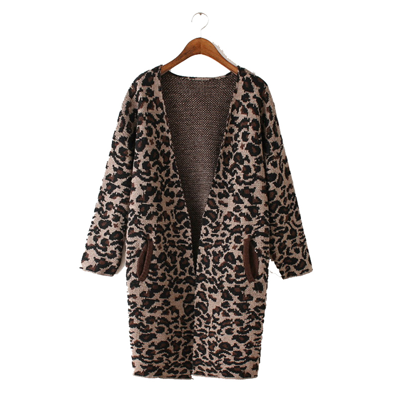 Online Buy Wholesale Leopard Print Cardigan Sweater From