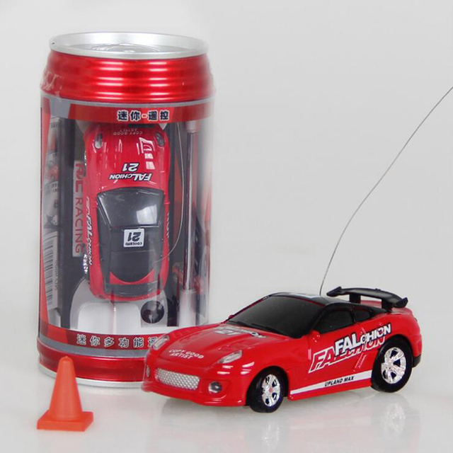 Hot Sale 1:63 Coke Can Super Mini RC Car Multi-color High Speed Radio Remote Control Micro Racing Vehicle Toy