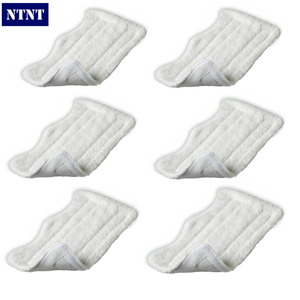 NTNT 6 QTY For Shark Lite Velcro Washable Microfibre Steam Mop Cloth Cleaning Pad New стоимость