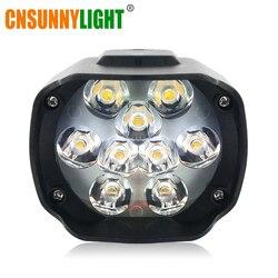 Cnsunnylight super brilhante de alta potência 6 w motocicleta led luz nevoeiro ponto branco farol luz de trabalho dc 12 v 24 v iluminação externa