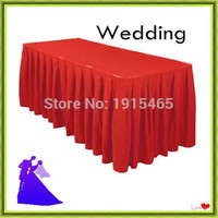180*45*75cm rectangle table skirt polyester banquet for sale free shipping
