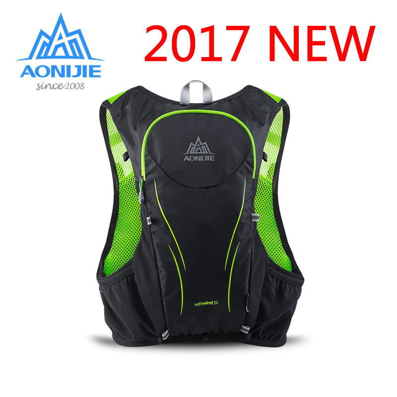 AONIJIE man Super Light cross country running backpack hiking Hydration Bag Outdoor marathon vest for Cycling Climbing sports 5L aonijie men women outdoor sports lightweight running 8l backpack marathon cycling hiking bag with 1 5l hydration water bag