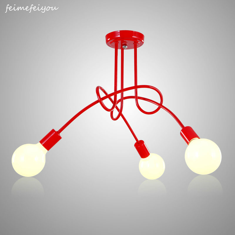 Decke Licht Moderne Nordic Einfache Personalisierte Kreative Lampen Nordic Restaurant Schlafzimmer Wohnzimmer Metall Material Eisen