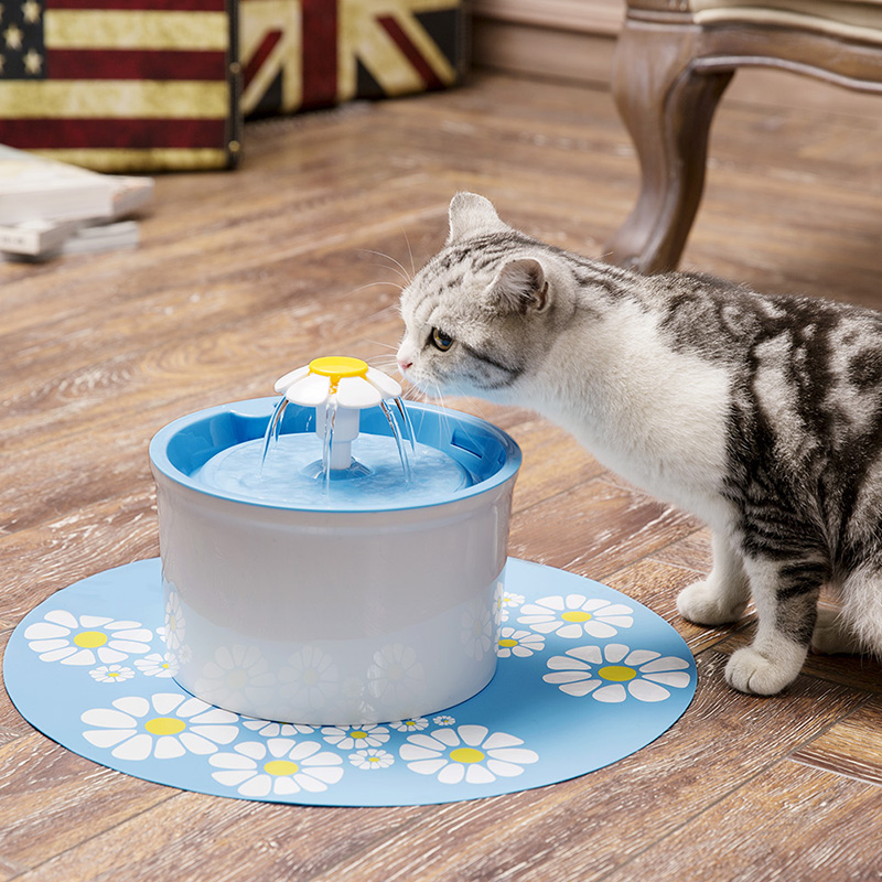 Automatic Cat Dog Feeder Water Fountain 1.6L Electric Pet Drinking Fountain Pet Bowl Drinking Water Dispenser Drink Filter