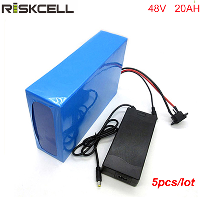 5pcs/lot Long cycle life 48v 20ah li-ion battery 48v 1000W e bike battery charger for 48V 8FUN 1000w bafang motor with 30A bms rear rack 48v 1000w electric bike battery 48v 25ah lithium ion battery pack fit bafang 8fun motor with led tail lamp charger bms