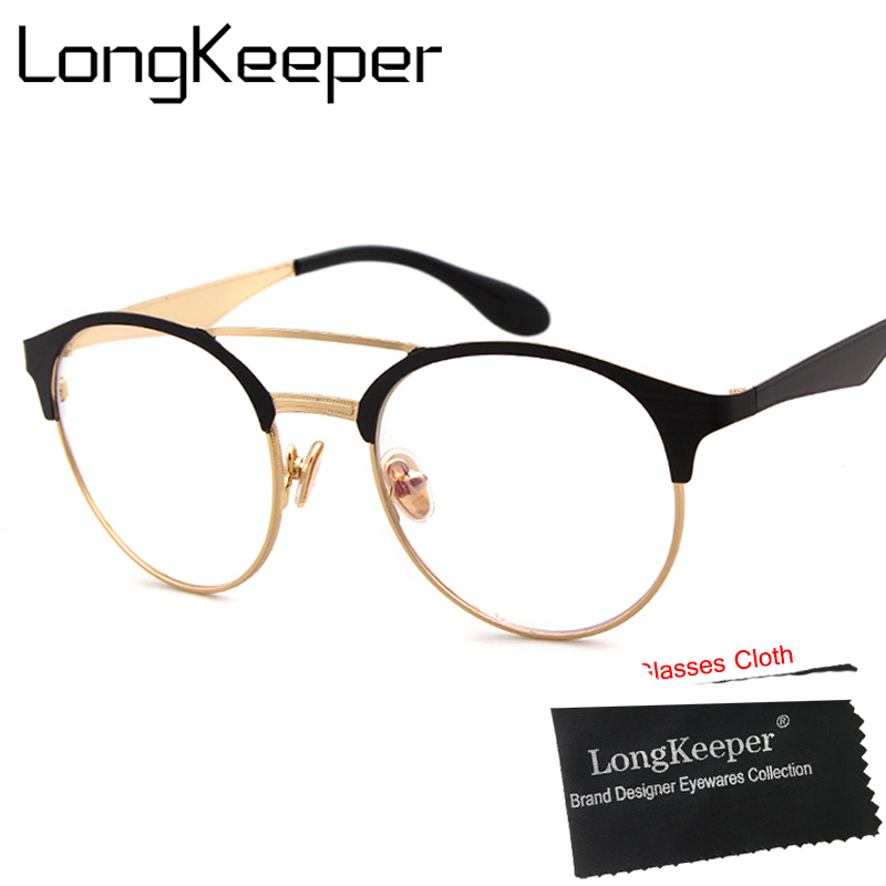 8aa19e2fc2a LongKeeper New Korean Style Cat Eye Glasses Women or Men Nerd Eyeglasses  Clear Glasses Frame Spectacle Optical Eyewear Frames-in Eyewear Frames from  Apparel ...