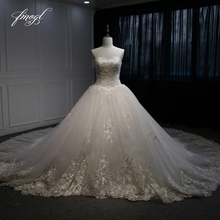Fmogl Sexy Sweetheart Royal Train A Line Wedding Dress 2019