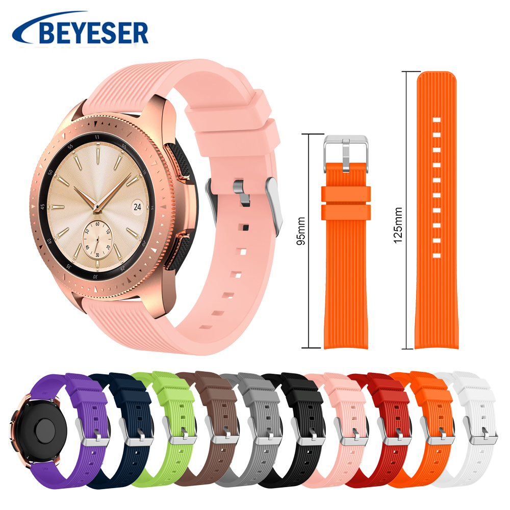 20mm Universal Strap For Comfortable Replacement Bracelet Strap For Samsung Galaxy Watch 42mm Watch Band