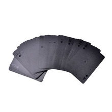 Limited Edition Waterproof Black Plastic Playing Cards