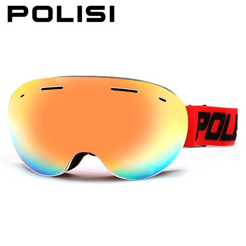 707d1e581c97c Inverno das mulheres dos homens uv400 óculos de esqui snowboard óculos  polisi profissional grande spheral camada