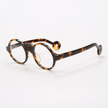 d6d87832d0176 BETSION Vintage Round 47mm Reading Glasses Acetate Tortoise Black Full Rim  Men Women