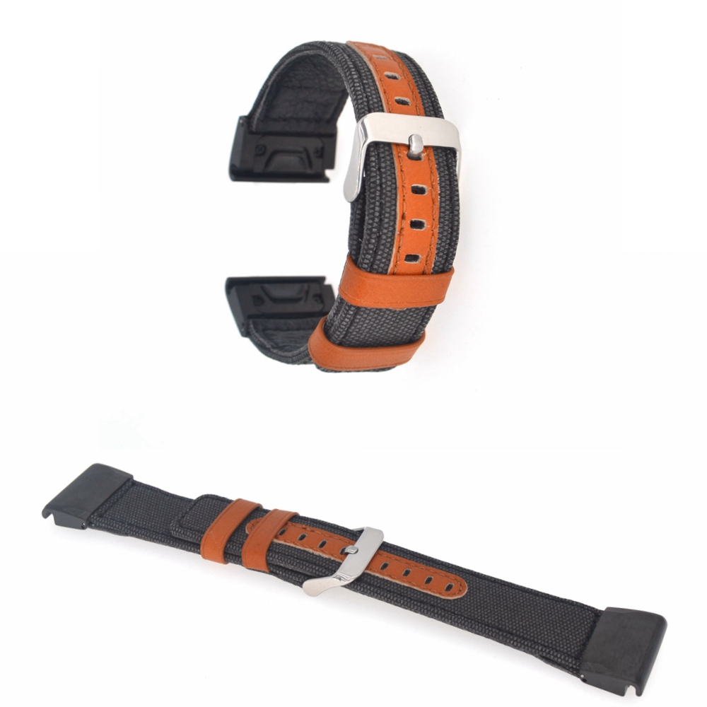 Fenix 5x Leather Strap, 26mm Width Quick Release Fenix 3 Leather Watch Band Easy Fit Strap for Garmin Fenix 5X/Fenix 3HR fenix 250mg 122