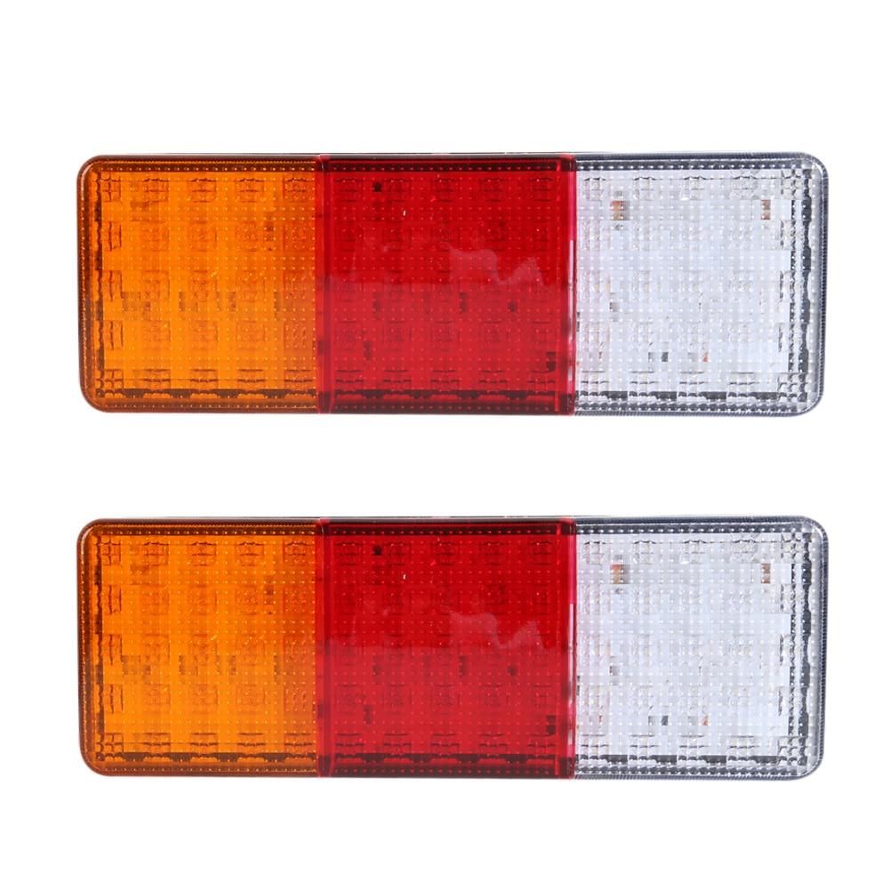 ФОТО 2PCS 12V 70LEDS Trailer Truck LED Tail Light Lamp Yacht Car-Trailer Taillight Reversing Running Brake Turn Lights