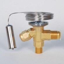 온도 조절 식 팽창 밸브 shrtx2 황동 조절 유량 밸브 내부 평형 sae 연결 r22 냉매