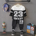 Toddler Boy Clothes 2016 Autumn Long Sleeve Letter Print Top Long Pant 2pcs Boys Tracksuit Casual Sport Suit Boys Clothing Set