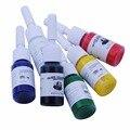 6 Cores/Conjunto Kits de Artes Do Corpo Tatuagem Pigmento Da Tinta 5 ml Garrafas de Beleza Profissional Permanente Makesup Suprimentos