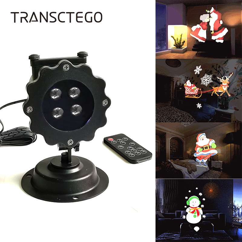 Christmas Projector Light LED Landscape Laser Projection Lamp Outdoor Waterproof Halloween Cartoon Garden Decoration Lawn Light